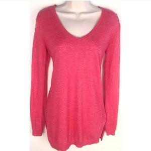 ❣️BOGO 1/2 off❣️🆕 GAP linen v neck sweater pink